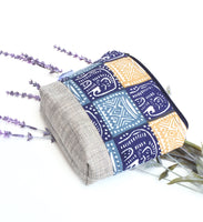 elephant print essential oil bag