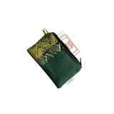 green african canvas small zipper pouch