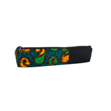 green african zipper pouch