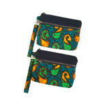 green and black african purses
