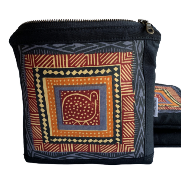 african guinea hen cosmetic pouch
