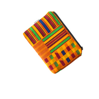 small kente zipper pouch