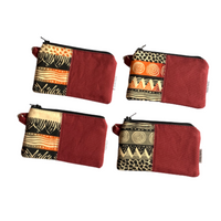 collection of small zipper coin purses