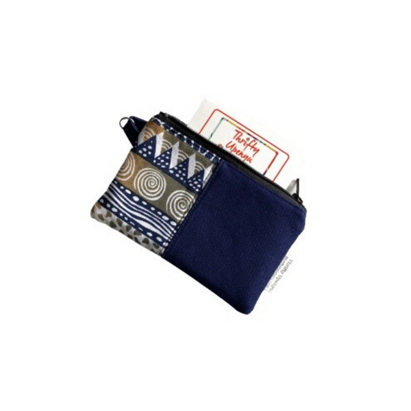 navy african pouch