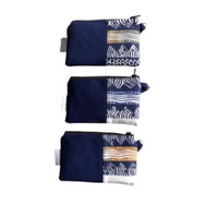 navy small zipper pouches