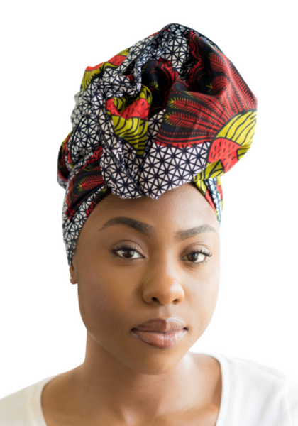 navy headwrap