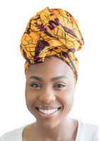 red yellow ankara headwrap