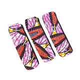 pink ankara fabric pencil cases