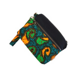 teal african clutch purse
