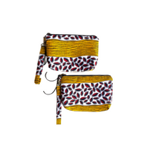 African Print Fabric Large Zipper Bag | Thrifty Upenyu
