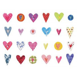 Rows of Hearts Note Cards