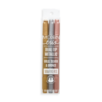 Modern Trio Dual Tip Metallic Markers - Set of 3
