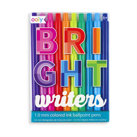 Bright Writers Colored Ballpoint Pens - Set of 10