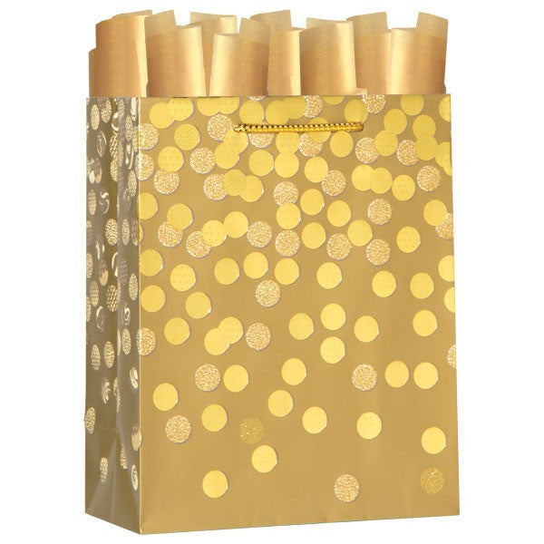 Dazzle Gold Medium Gift Bag