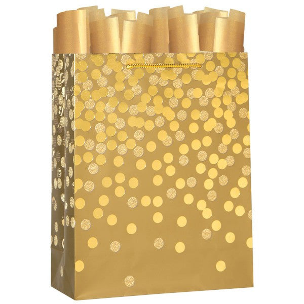 Dazzle Gold Large Gift Bag