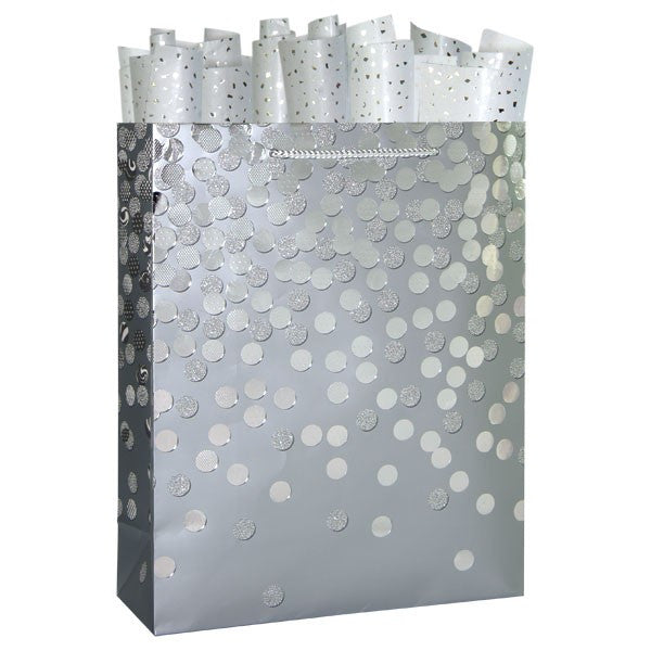 Dazzle Silver Large Gift Bag