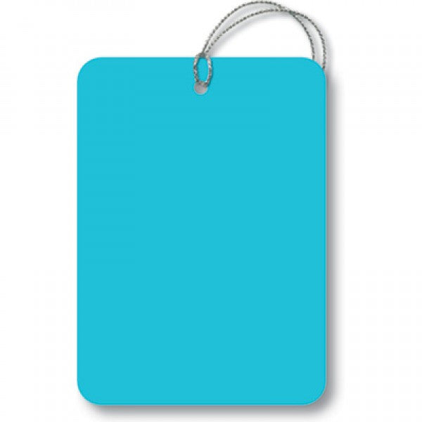 Aqua Rectangle Gift Tags