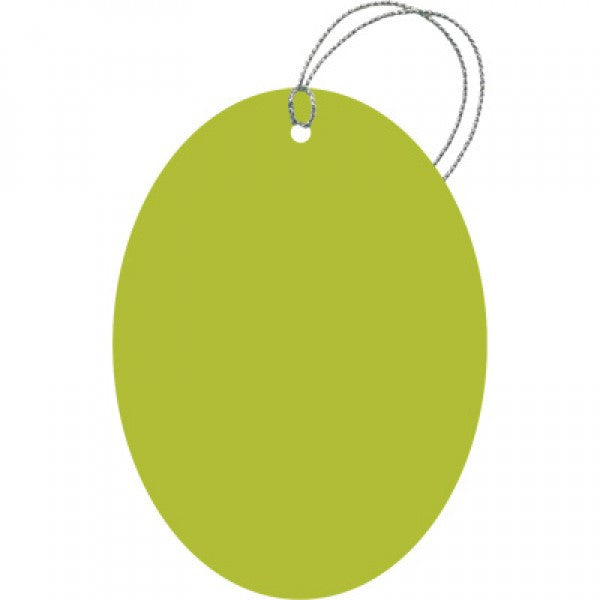 Lime Green Oval Gift Tags