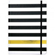 Hardcover Journal Kenzie Stripe Black