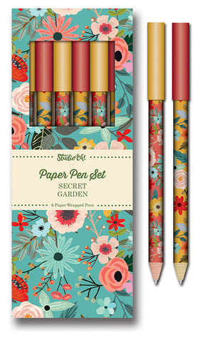 Secret Garden Paper Pen Set
