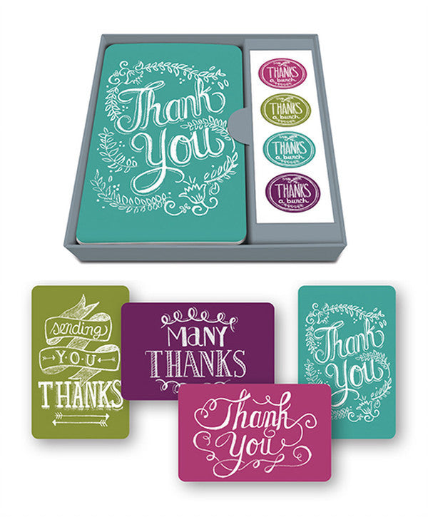 Chalkboard Thank You Note Card Set