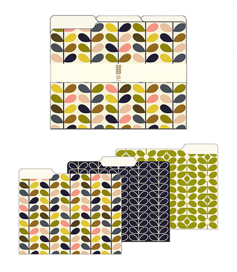 Orla Kiely File Folders - Multi Stem Assortment