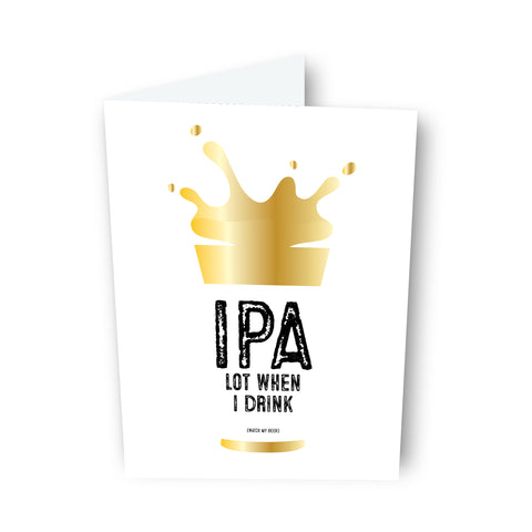 IPA Beer Card