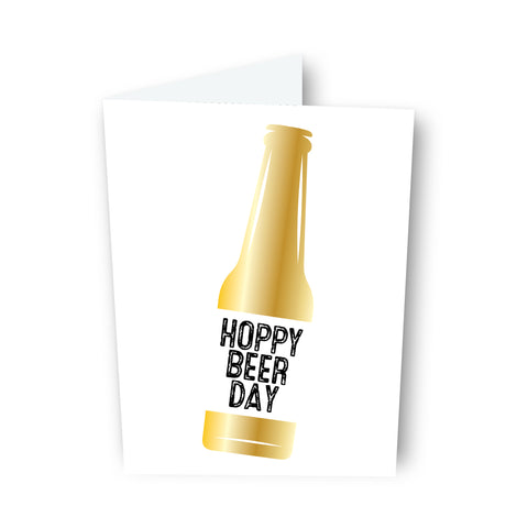 Hoppy Beer Day Beer Card
