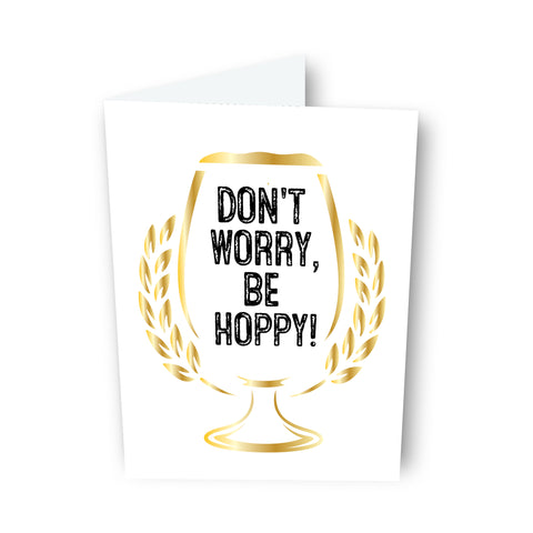 Be Hoppy Beer Card