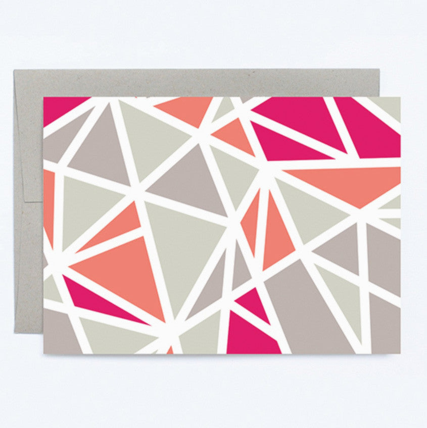Boxed Notes - Red Geometric