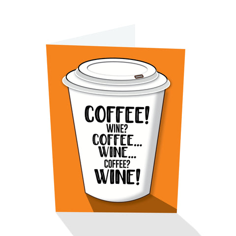 Coffee! Wine? Notecard