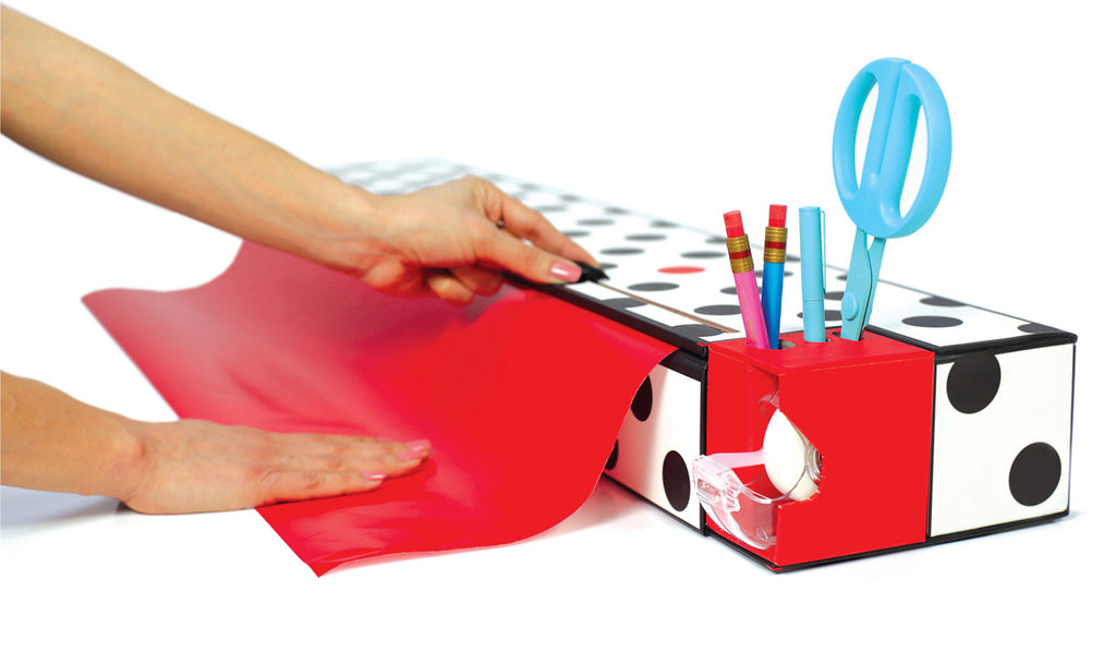 "30"" Twin Gift Wrap Dispenser - Dots"
