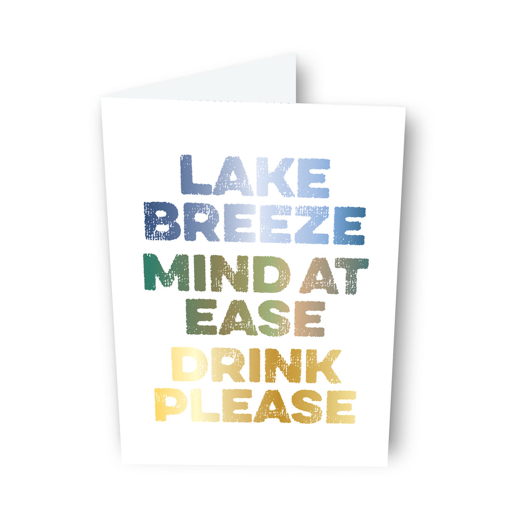 Lake + Breeze + Drink Card