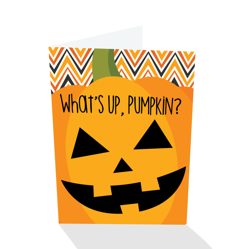 What's Up Pumpkin? Halloween Card