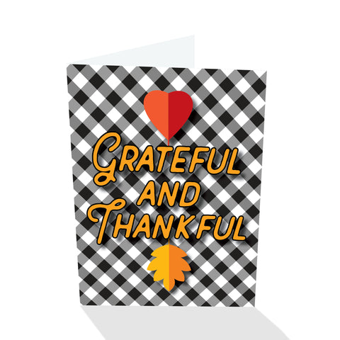 Grateful and Thankful Thanksgiving Card