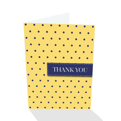 Yellow/Navy Dotted Thank You