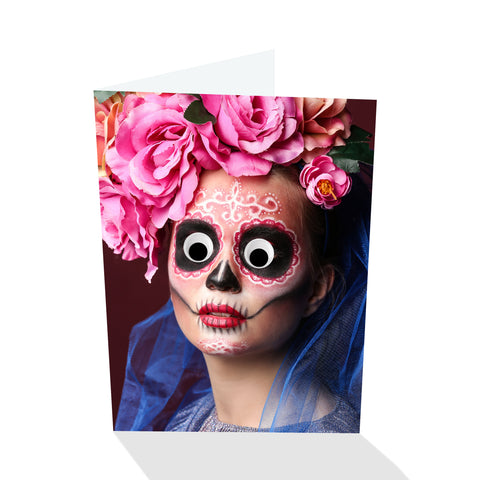 Deadeye Gina Halloween III Greeting Card