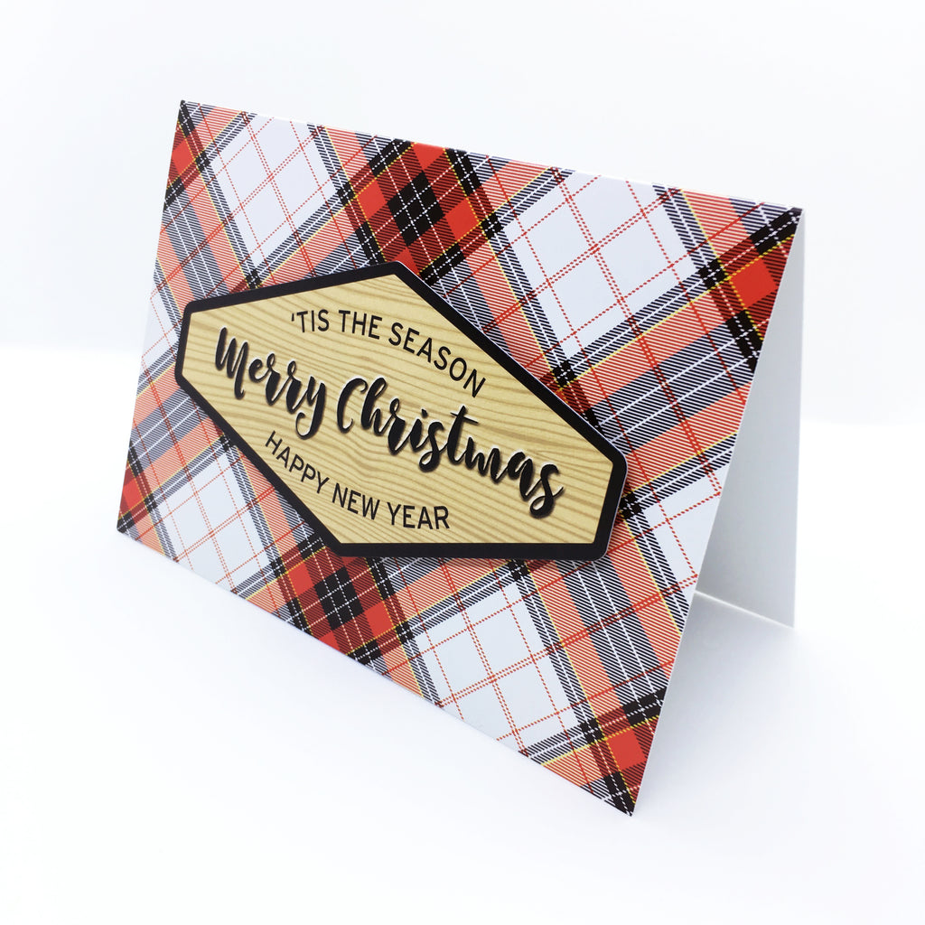 """Merry Christmas"" Hamilton Plaid Greeting Card"