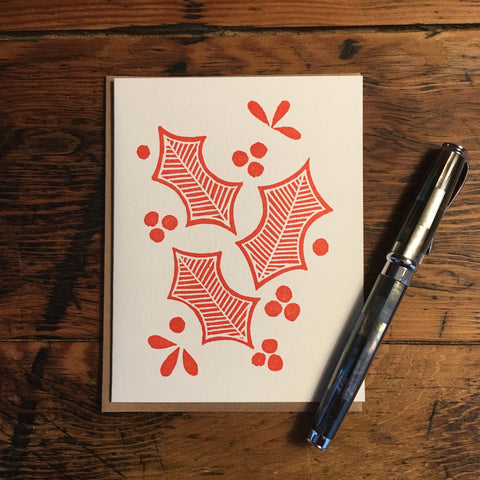 Block Printed Holiday Cards (Set of 6)