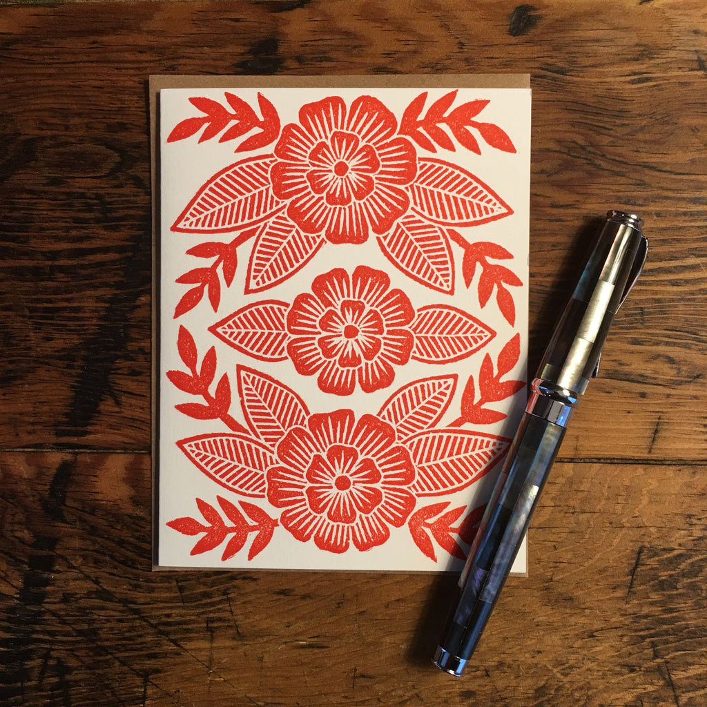 Block Printed Blank Cards (Set of 6)