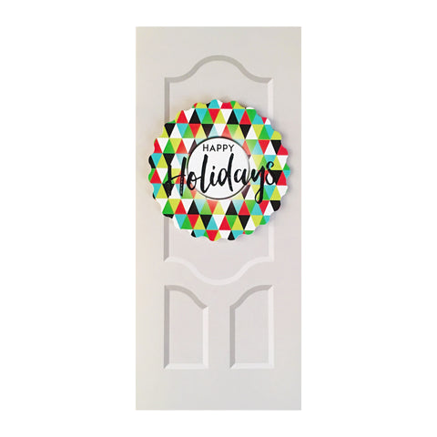 Sapori Holiday Doors with Triangles Wreath Greeting Card