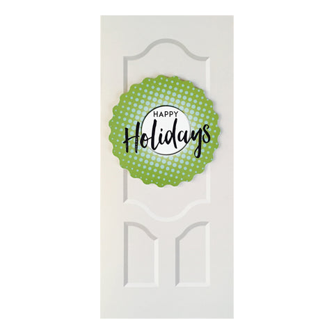 Sapori Holiday Door with Green Gradient Burst Wreath Greeting Card