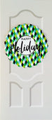 Sapori Holiday Door with Mini Harlequin Diamonds Wreath Greeting Card