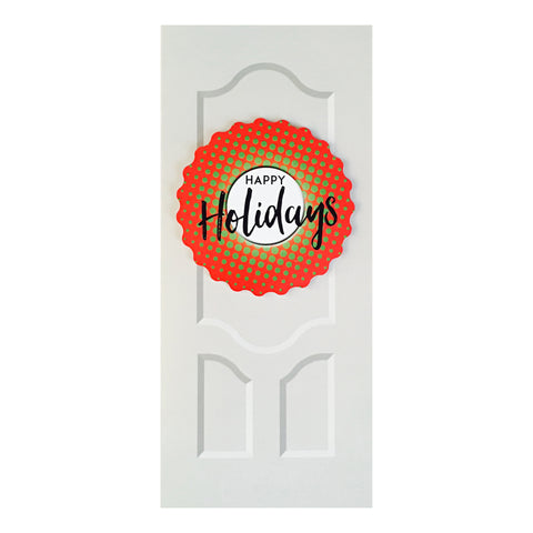 Sapori Holiday Door with Red Gradient Burst Wreath Greeting Card