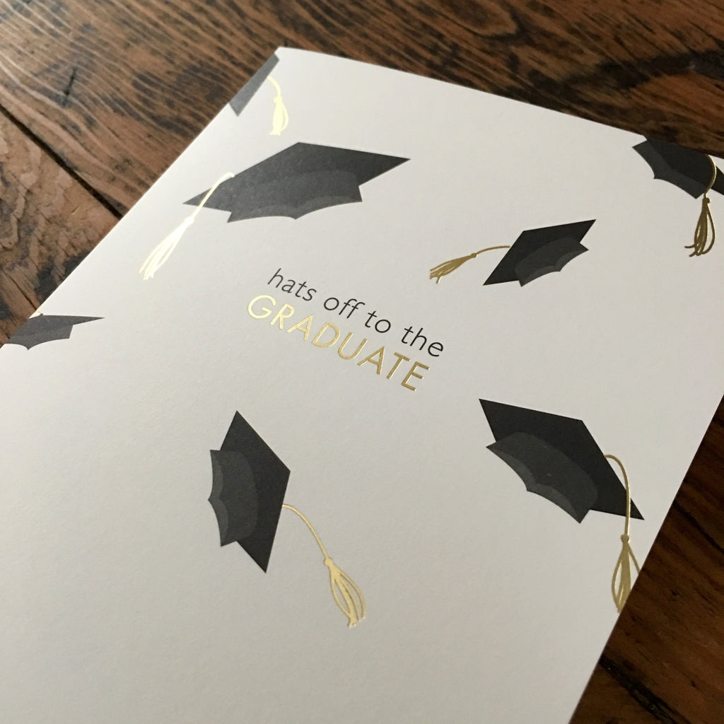 Foil Hats Graduation Card
