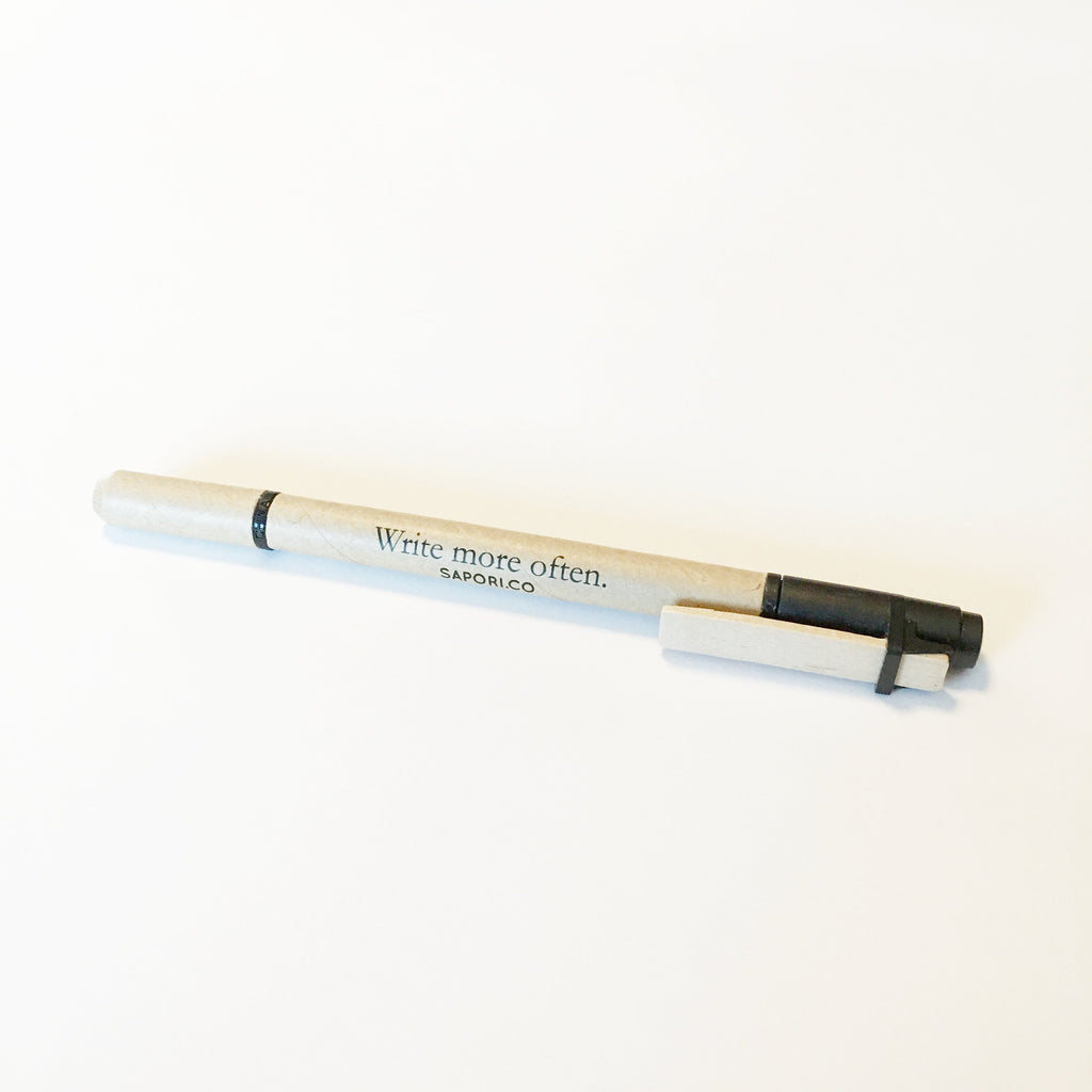 """Write more often.""  Dual Function Eco-Friendly Highlighter/Pen (Set of 3)"