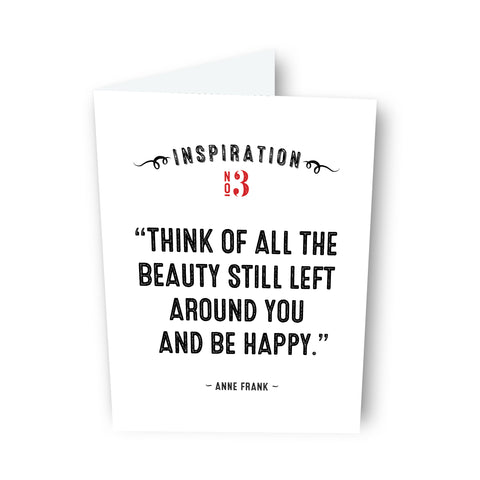 Be Happy by Anne Frank Card No. 3
