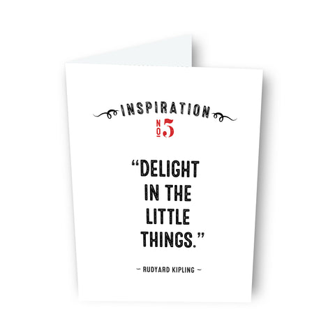 Little Things by Rudyard Kipling Card No. 5