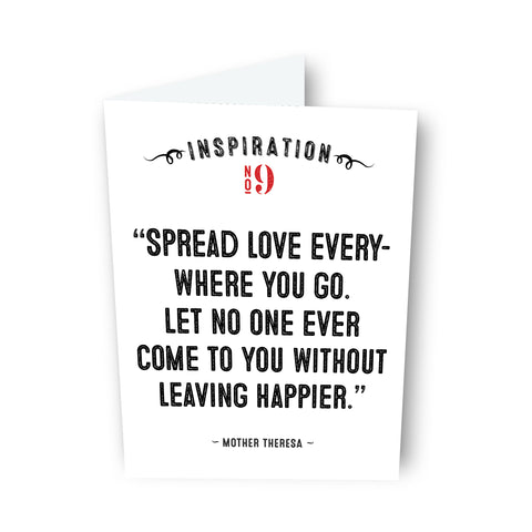 Spread Love by Mother Teresa Card No. 9