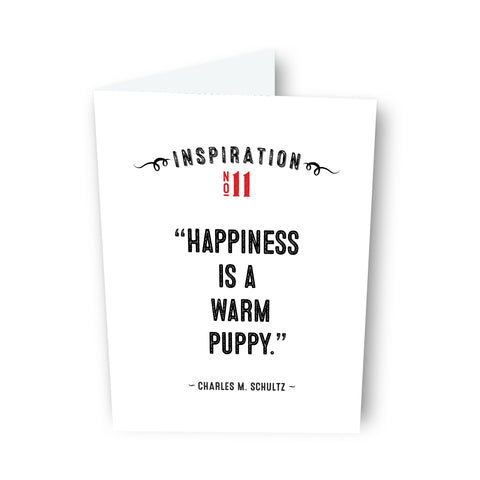 Happiness is... by Charles Schultz Card No. 11
